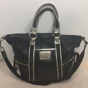 COACH POPPY LEATHER SPOTLIGHT HANDBAG #13819